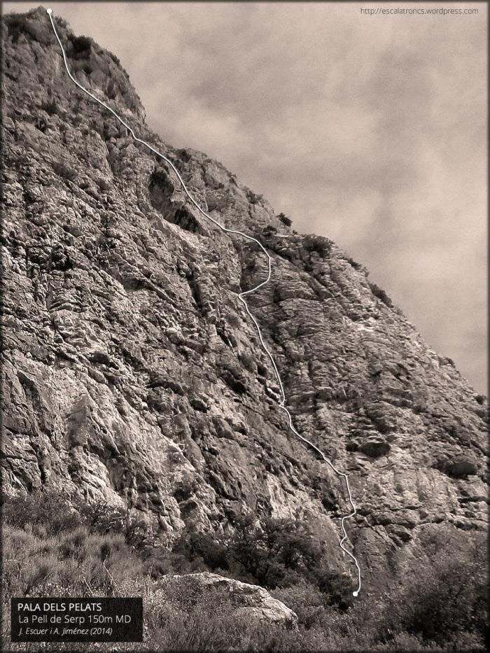 Recorregut de la via La Pell de Serp al Montroig