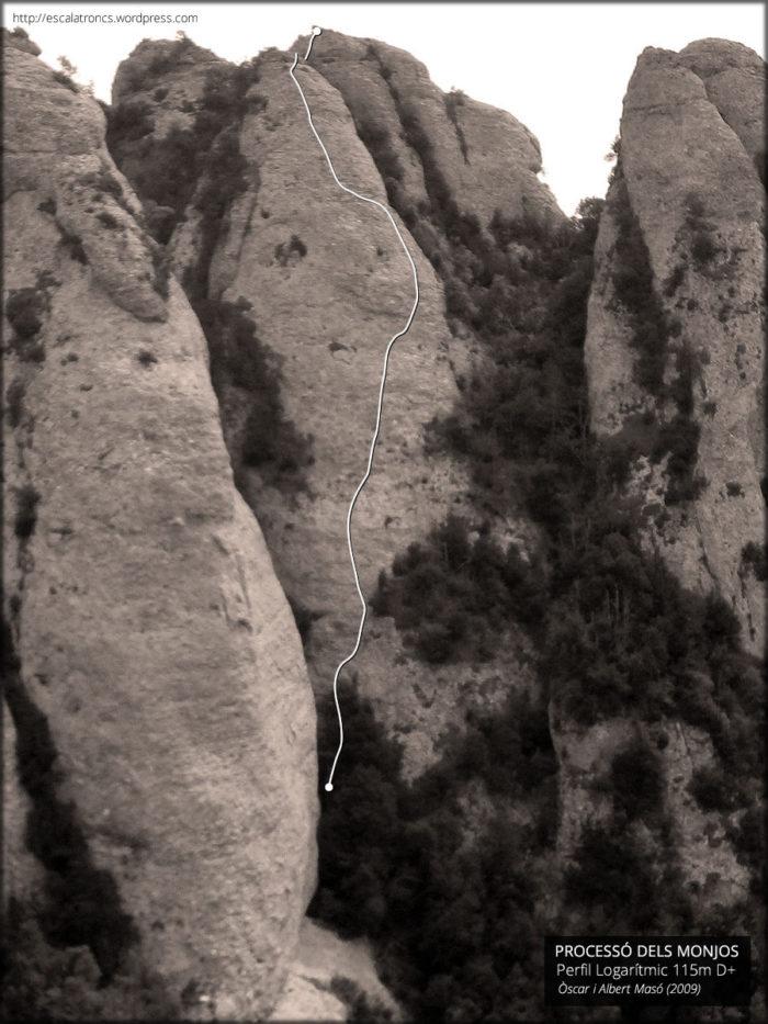 Recorregut de la via Perfil Logarítmic a la Plantació (Montserrat)