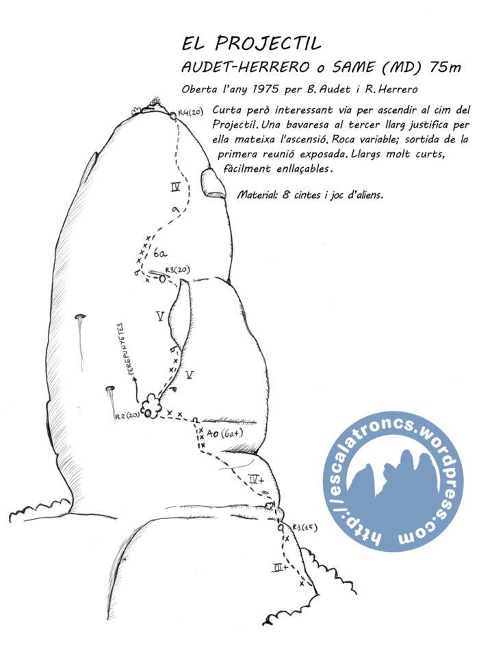 Ressenya de la via Audet-Herrero (SAME) al Projectil