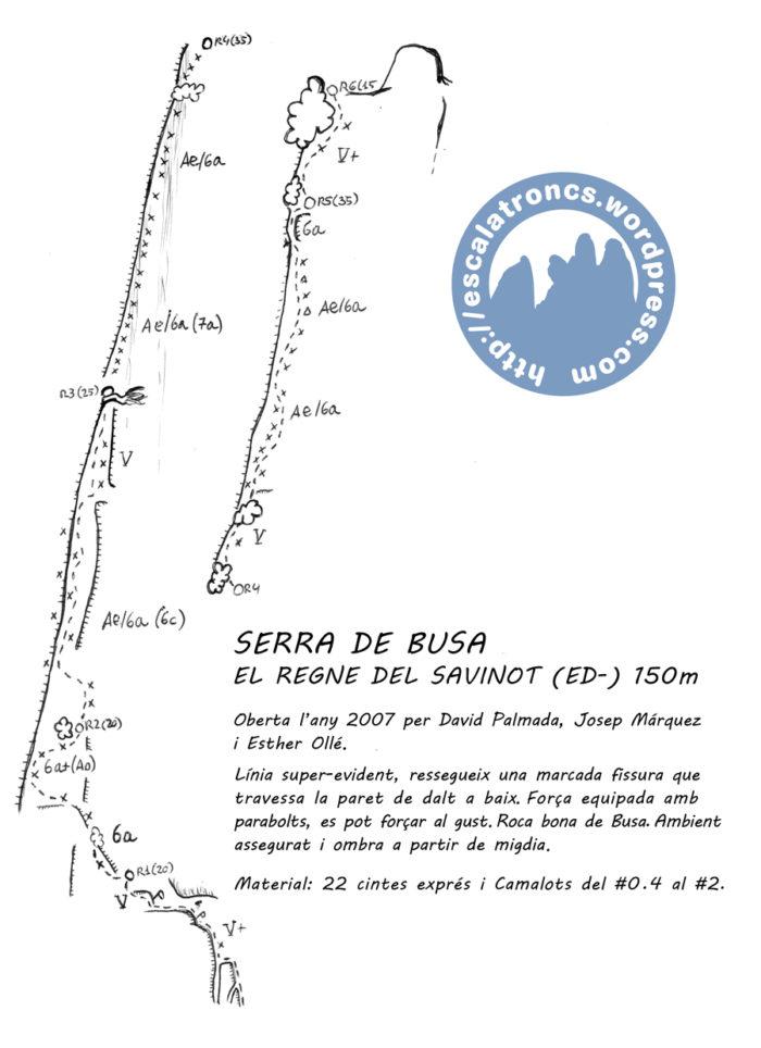 Ressenya de la via El Regne del Savinot a Busa