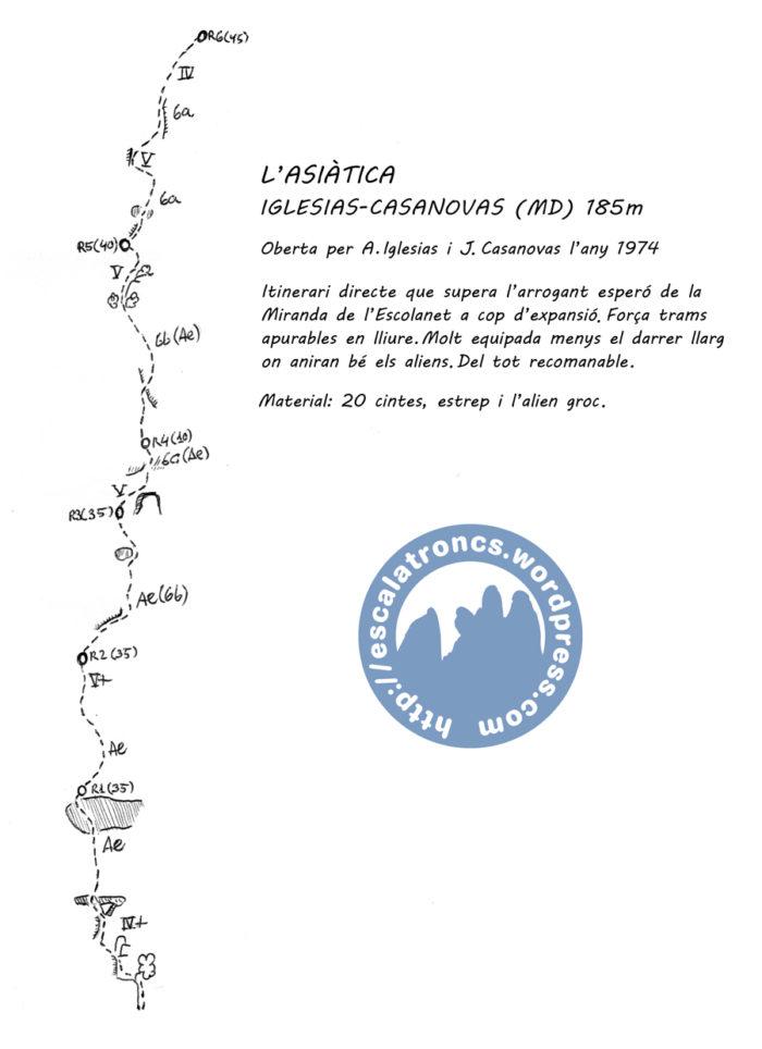 Ressenya de la via Iglesias-Casanovas a l'Asiàtica (Frares Encantats-Montserrat)