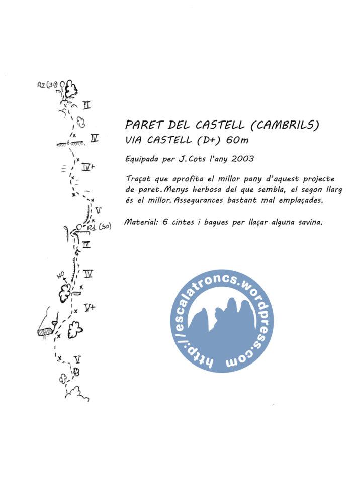 Ressenya de la via Castell (cambrils-Odèn)