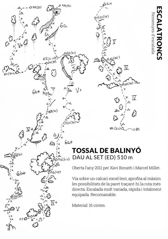 Ressenya de la via Dau al Set al Tossal de Balinyò (Narieda Sud)